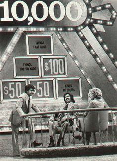 Another favorite game show of mine was Pyramid! It is a television game show which has aired several versions. The original series, The $10,000 Pyramid, debuted March 26, 1973. Dick Clark is the host most commonly associated with the show, having hosted most incarnations of it from 1973–1988. The 10,000 Pyramid show hosted by Dick Clark is the one I remember most...loved it!!