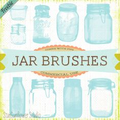 Free Vintage Jar Brushes for Photoshop with PNG clipart!