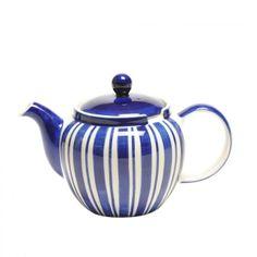 Tea Clipper Blue Stripe 6-Cup Chatsford Filter Teapot - LOOOOVE!