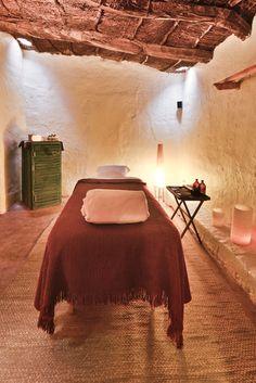Massage room at explora Atacama.