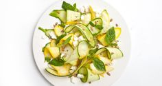 Shaved Squash Salad with Sunflower Seeds
