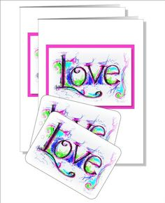 Valentine Love cards with complimentary tags x 2 by NewCreatioNZ, $8.00