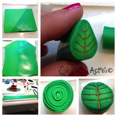 Polymer Clay Leaf Cane Tutorial