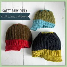 Knit baby hat pattern instant digital download by sweetbabydolly #knittingpatterns