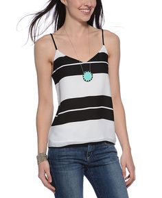 Eight Sixty Striped Cami with Single Strap-Back
