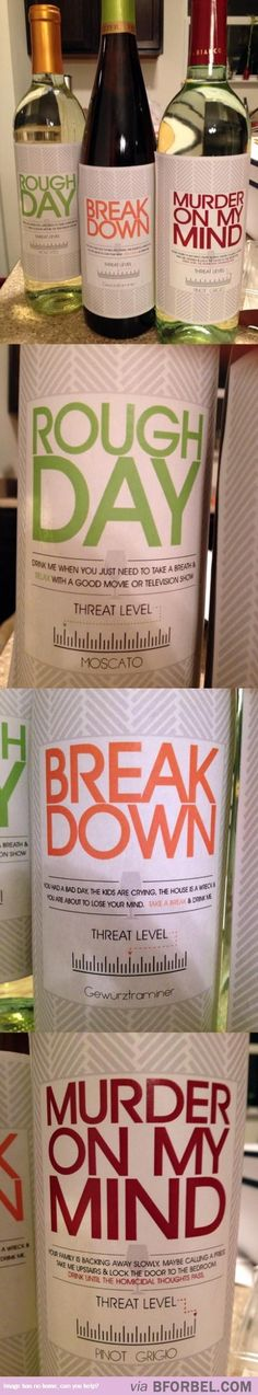 These wines. Just yes. HAH!
