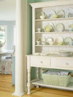 Cottage Cabinet With a Gorgeous Collection Display !