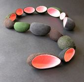 felt and rubber necklace BRIGIT DAAMEN-NL