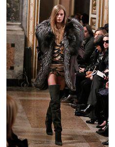 Emilio Pucci silver fox coat