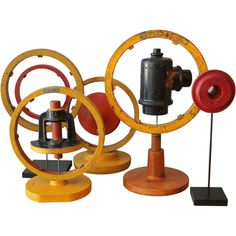 Collection of five industrial molds, mounted