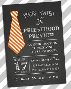Priesthood Preview Invite