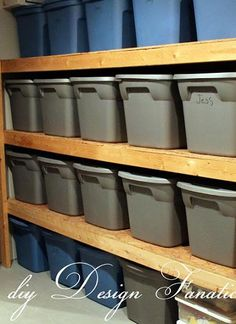 DIY Storage – Perfect For Garage or Basement- We build this in our garage and total space saver!