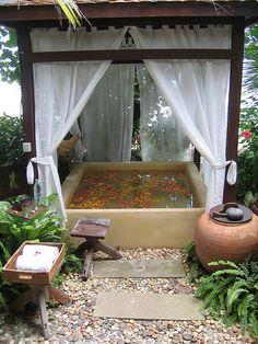 Warm flower pool in Koh Samui, Thailand