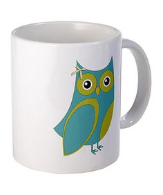 Take a look at this Blue & Green Owl Mug by CafePress on #zulily today!