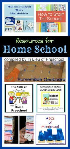 Resources for Home School {In Lieu of Preschool}