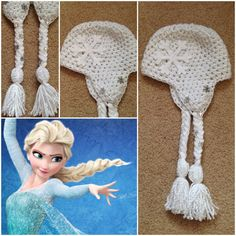 Hey, I found this really awesome Etsy listing at https://www.etsy.com/listing/176745215/crochet-elsa-beaniehat-disneys-frozen