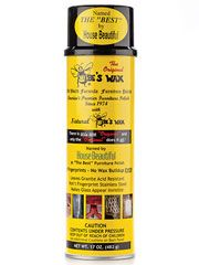 """Named the """"best"""" by House Beautiful, this old world formula furniture polish has been used to clean, protect, preserve and restore furniture since 1974. Made with natural bees wax, it keeps wood from drying out and leaves no oil residue or wax build up…ever! Use on antiques, kitchen cabinets, marble, glass, granite, mirrors stainless steel, oak and much more! Simply spray the furniture lightly with the wax and wipe immediately for a natural shine that won't fingerprint. $9.95"""