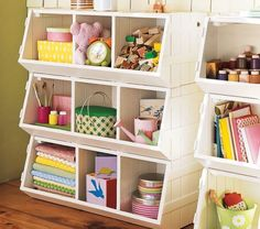 Functional Kids Toy Storage    ...I WANT THESE!! bah. toys.