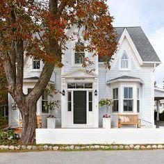 coastal cottage, nova scotia, black doors, front yards, front doors, outdoor spaces, dream houses, wrap around porches, vintage life