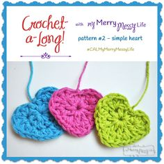 Simple Crochet Heart - Free Pattern as part of a Crochet-a-long