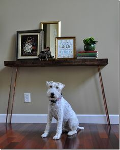 How to build a console table with copper legs tutorial!