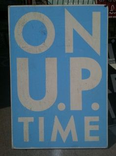 """ON """"UP"""" time. Rustic sign for Michigan's upper peninsula"""