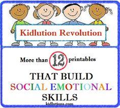 Social emotional skills printables. social skill, school, printables, social emot, emot skill, peaceful parenting, free printabl, spindoctor parent, kid