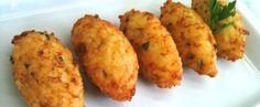 Receita de bolinhos de arroz com cream cheese