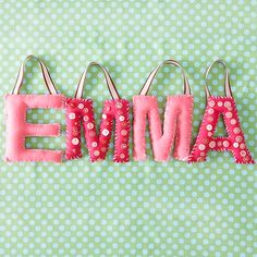 Button Letters-How fun for a baby shower or 1st birthday present!