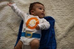 No-stitch baby super hero costume