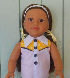"Sunngfit Annie Add-on yoke pattern for 18"" dolls (free)"