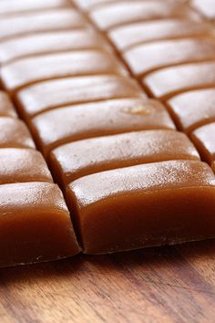 Homemade caramels  Just cream, butter and sugar... and the result - pure heaven :)