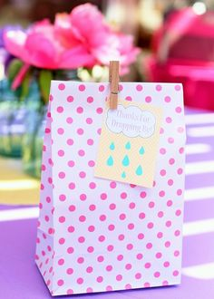 Pink Baby Shower Party favors!  See more party ideas at CatchMyParty.com!