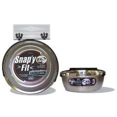 Midwest Stainless Steel Snap`y Fit Water and Feed Bowl, 2 Quart $12.94