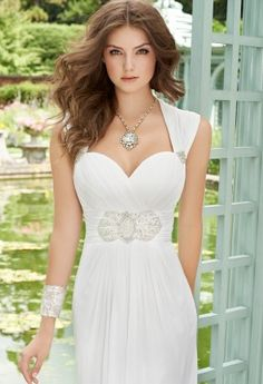 Grecian Chiffon Jeweled Waist Wedding Dress from Camille La Vie and Group USA