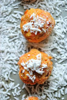 GF Carrot Cake Protein Truffles