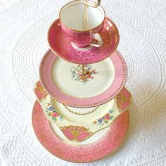 Tea cup dessert stand - where to find hardware?