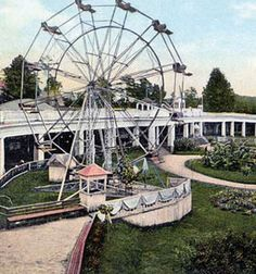 """Pre Ponce City Market - In the early 1900s Ponce de Leon Springs and gardens were converted into an amusement park. Dubbed the """"Coney Island of Atlanta"""" became one of the most popular destinations in the city. The park was beside Ponce de Leon lake, located where the Home Depot is today."""