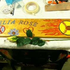 My niece who is 11 name is Delia Rose Scott. My husband Ron made this sign for her cause she loves sb!!