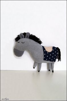 THE ROYAL PONY stuffed toy stuffed pony stuffed horse by milipa, $42.00