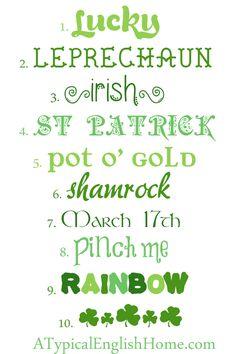 St Patrick's Day Fonts