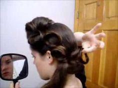 apostol hairstyl, pincurl updo