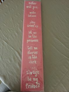 I bought this to hang in the girls playroom.