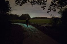 The Dutch-based Studio Roosegaarde just unveiled a stunning illuminated trail in Nuenen, Netherlands. Called Van Gogh-Roosegaard Bicycle Path, it's based on the famous Vincent Van Gogh painting The Starry Night.