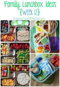 Family Lunch box ideas FamilyFreshMeals.com