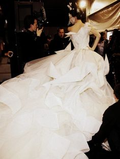 Christian Dior Haute Couture Backstage #wow