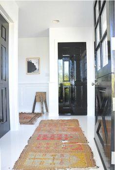Glossy black interior doors