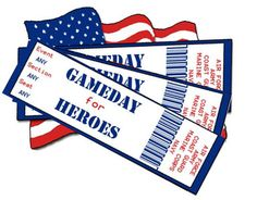 GAMEDAY FOR HEROES - Gameday for Heroes is a not-for-profit organization that sends wounded and active duty military personnel to college sporting events, focusing mainly on football, basketball, and baseball. Gameday For Heroes accepts monetary donations, unused tickets from season ticket holders, donations from university or college athletic departments and ticket offices, and in-kind donations. www.operationwearehere.com