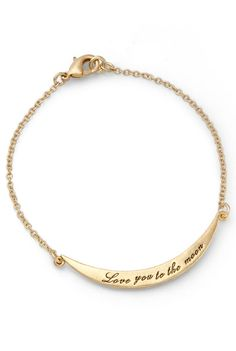 Love you to the Moon Bracelet <3