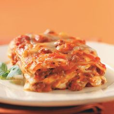 Cream Cheese and Swiss Lasagna Recipe, something different to try.